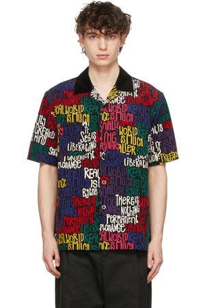 SACAI Black Eric Haze Edition Message Print Short Sleeve Shirt