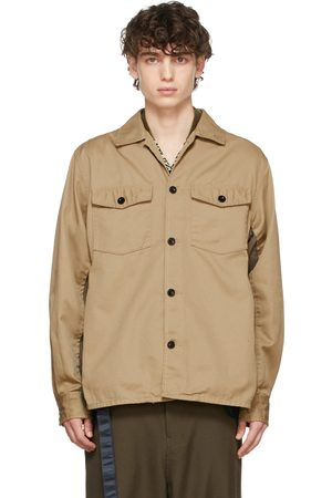 SACAI Beige Chino & Grosgrain Shirt