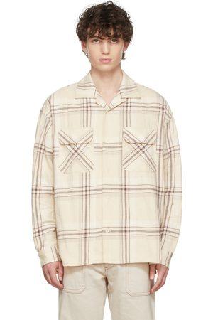 TS(S) Beige Large Plaid Shirt