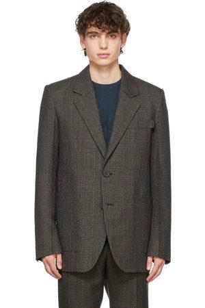 WOOYOUNGMI Grey Check 2B Blazer