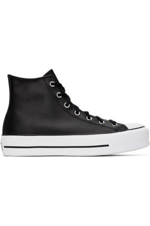 Converse Black Leather Chuck Taylor All Star Lift High Sneakers