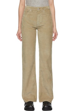 OUR LEGACY Grey Corduroy Spiral Cut Trousers