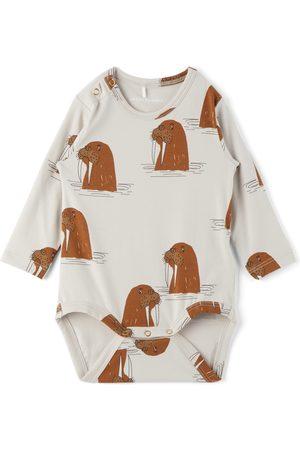 Mini Rodini Baby Walrus Long Sleeve Bodysuit