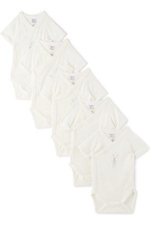 Petit Bateau Baby Wrapover Bodysuit 5-Pack