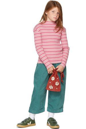 The Campamento Kids Pink Striped Turtleneck