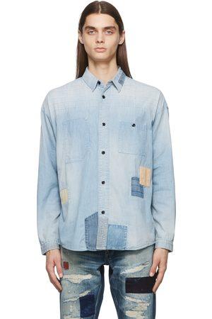 FDMTL Boro 3YR Wash Patchwork Denim Shirt