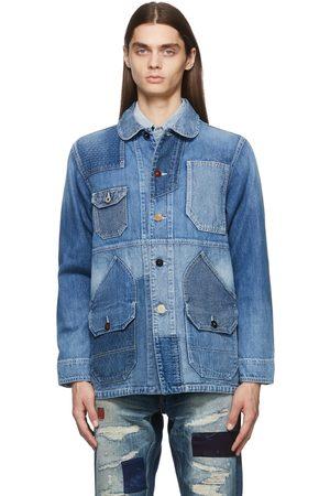 FDMTL Patchwork Coverall 3YR Wash Denim Jacket