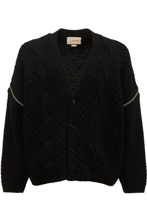 Gucci Men Cardigans - Wool Cable Knit Cardigan