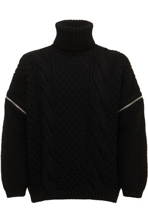 Gucci Wool Cable Knit Turtleneck Sweater