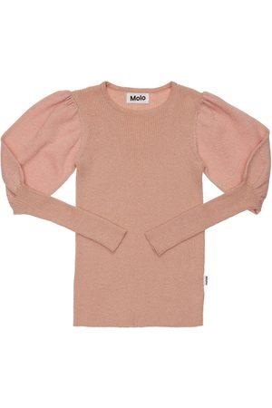Molo Organic Cotton & Glitter Knit Sweater