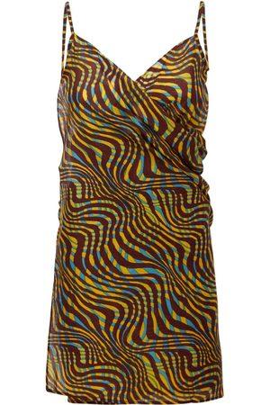 Gimaguas Safari Pareo Printed Cotton Mini Dress