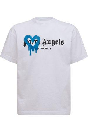 Palm Angels St Moritz Heart Spray Cotton T-shirt