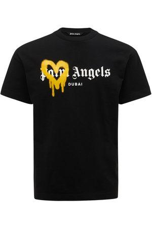 Palm Angels Dubai Heart Spray Cotton Jersey T-shirt