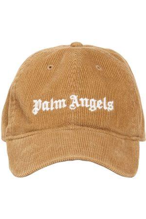 Palm Angels Men Caps - Logo Cotton Corduroy Cap