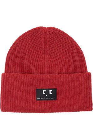 Diesel Logo Patch Wool Knit Beanie Hat