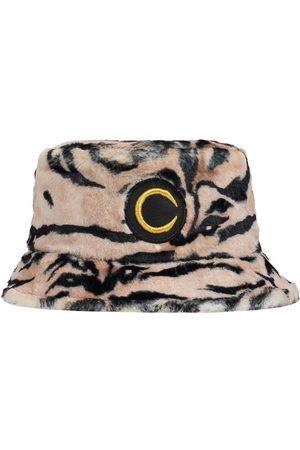 Roberto Cavalli Zebra Print Faux Fur Bucket Hat