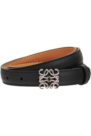 Loewe Women Belts - 2cm Anagram Leather Belt