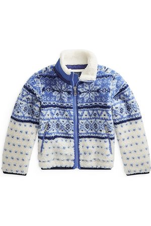 Polo Ralph Lauren Girls Fleece Jackets - Little Girl's & Girl's Fair Isle Fleece Jacket