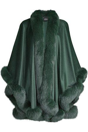 Sofia Cashmere Women Ponchos & Capes - Fox Fur & Cashmere U-Cape