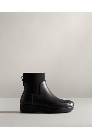 Hunter Women Chelsea Boots - Women's Refined Slim Fit Neoprene Creeper Chelsea Boots