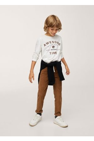 MANGO Boys Long Sleeve - Long-sleeved t-shirt with message