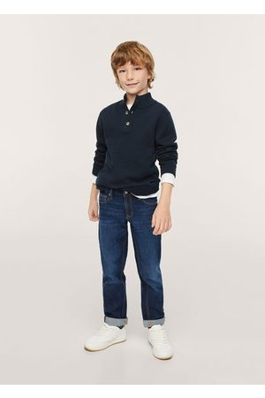 MANGO Boys Cardigans - Patch cotton sweater