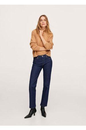 MANGO Women High Waisted - High waist straight jeans