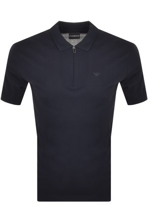 Armani Men Short Sleeve - Emporio Short Sleeved Polo T Shirt Navy