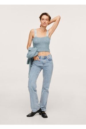 MANGO Women Crop Tops - Knitted cropped top