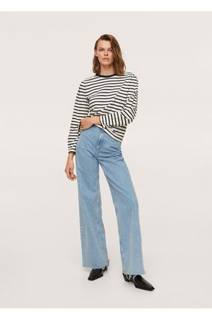MANGO Women Long Sleeve - Striped long sleeves t-shirt