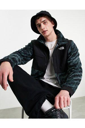 The North Face Men Fleece Jackets - Denali 2 tiger print fleece jacket in black/