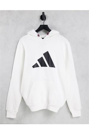 adidas Men Hoodies - Adidas winterized hoodie with large logo in