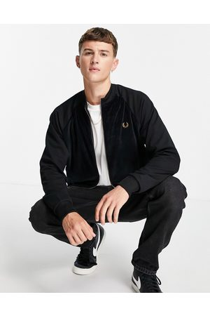 Fred Perry Velour bomber jacket in