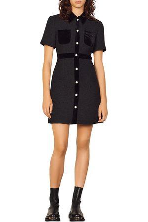 Sandro Paulette Mini Shirt Dress