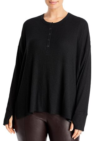 Andrew Marc Ribbed Henley Tee