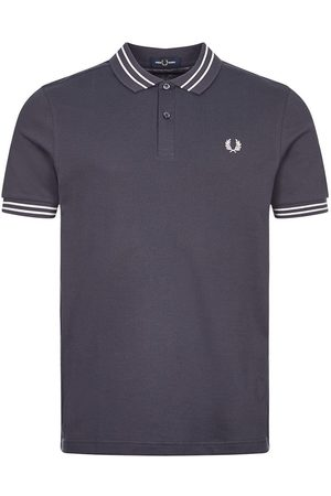 Fred Perry Textured Panel Polo - Dark Airforce