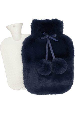 Nooki Faux Fur Hot Water Bottle Petrol