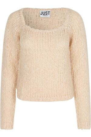 Just Female Women Sweaters - Erida Knit Jumper Buttercream