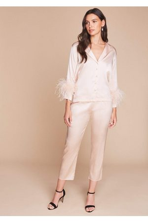 Gilda & Pearl Women Pajamas - Sabrina Feather Trim Pyjama Set