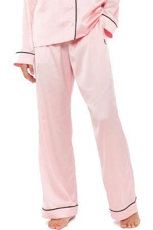 Juicy Couture Women Pajamas - Paula Satin Embroidered Pyjama Bottoms - Almond Blossom