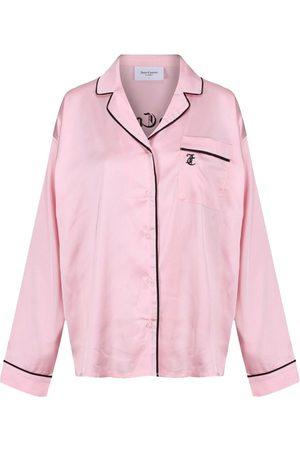 Juicy Couture Women Pajamas - Paquita Satin Embroidered Pyjama Shirt - Almond Blossom