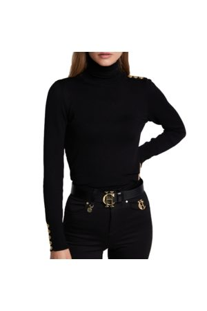 Holland Cooper Ladies Button Knit Roll Neck