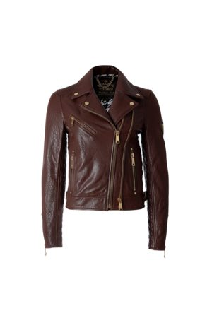 Holland Cooper Ladies Leather Biker Jacket