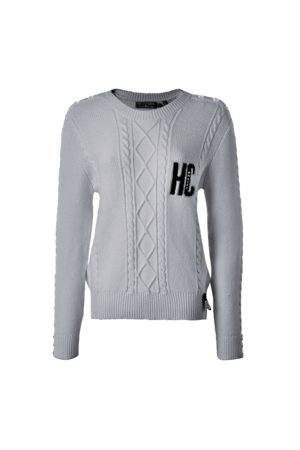 Holland Cooper Women Tops - Ladies Varsity Cable Knit
