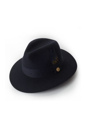 Holland Cooper Ladies Trilby Spot Feather Hat