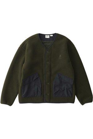 Gramicci Men Fleece Jackets - Boa Fleece Cardigan Olive
