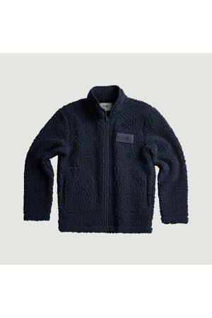 NN.07 Morten high collar fleece jacket Navy No Nationality 07