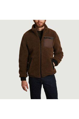Suit Sofus high collar fleece jacket Demitasse