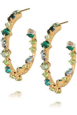 Caroline Svedbom Antonia Crystal Hoop Earrings - Green