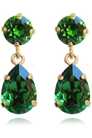 Caroline Svedbom Mini Drop Clasp Earrings - Dark Moss Green